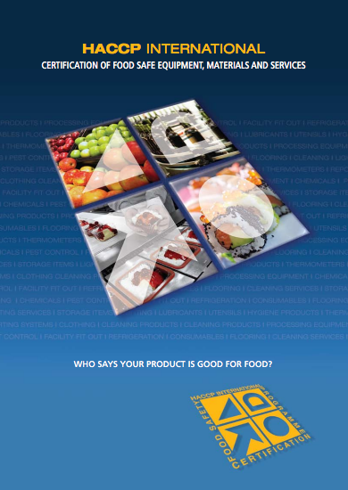 Certification Of Food Safe Equipment Materials And Services Haccp International